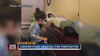 Cancer fund created for firefigher - Video