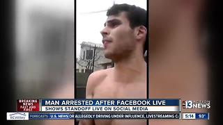 Man posts Facebook Live video during arrest for bomb threat - Video