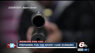 Indianapolis police prepare citizens for worst case scenario with active shooter training - Video