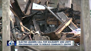 Peacemakers get support from local leaders to rebuild community center after fire