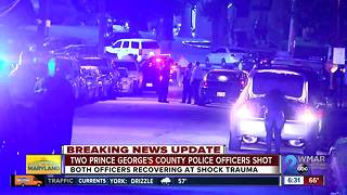 Police investigating two officers shot in Prince George's County