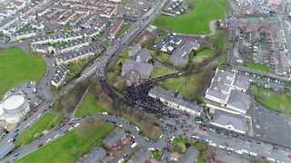 Martin McGuinness Funeral Seen from the Air as Mourners Gather - Video