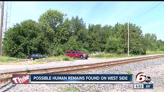 Possible human remains found in wooded area on Indianapolis' west side - Video