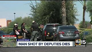 Man shot by MCSO deputy Thursday has died - Video