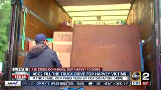 ABC2 teams up with ManorCare, Von Paris Moving & Storage to collection donations for Harvey victims - Video