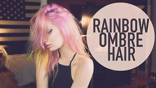 DYING MY HAIR: RAINBOW OMBRE | Brittany Balyn - Video