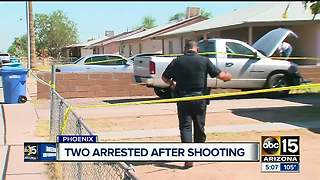 Man, woman arrested after shooting homeowner in west Phoenix - Video