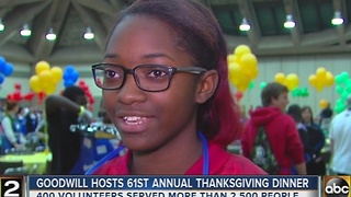 Goodwill hosts Thanksgiving dinner, resource fair for those in need - Video