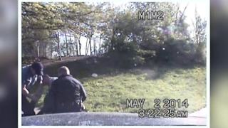 Dashcam video of Manuel Palacio's arrest - Video