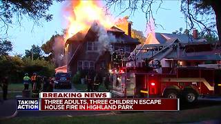 Three adults, three children escape house fire in Highland Park