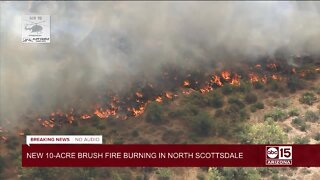 New 10-acre brush fire burning in North Scottsdale