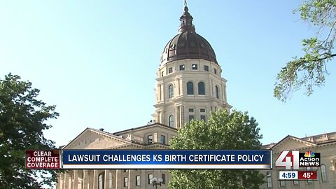 Lawsuit challenges KS birth certificate policy
