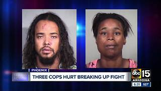 Three Phoenix officers hurt during altercation with suspects, two arrested
