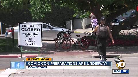 COMIC-CON 2018 Important traffic and road information