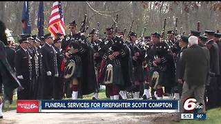 Hundreds gather to honor a firefighter killed in the line of duty - Video