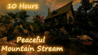 10 Hours - Peaceful Mountain Stream V2- Relaxing Sounds for Sleep