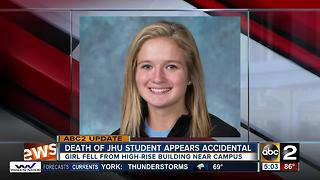 New details about the death of a Johns Hopkins student