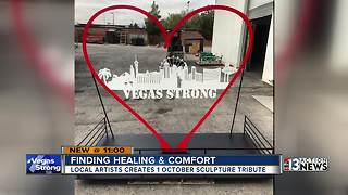 Local artist creates Vegas Strong sculpture - Video