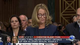 Dr. Ford says she believed Kavanaugh was going to rape her - Video