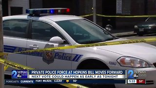 Johns Hopkins University private police force bill moves forward