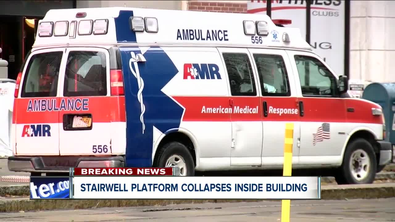 Person injured after Stairwell platform collapse inside Buffalo building