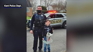 Kent first responders surprise boy on his 9th birthday