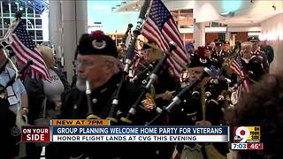 Group planning welcome home party for veterans - Video