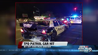 TPD patrol car struck