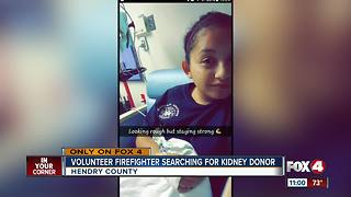 Volunteer Firefighter searching for kidney donor - Video