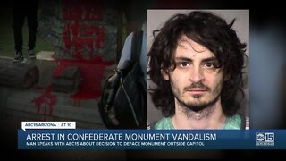 Valley man arrested for defacing Confederate monument with red paint