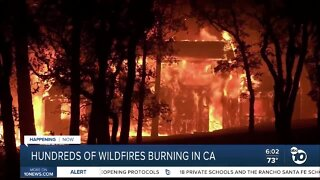 Wildfires rage throughout California