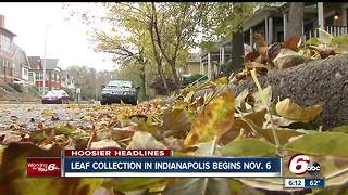 Leaf collection in Indianapolis begins November - Video