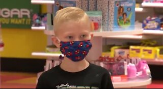 Boy who saved sister from dog gets shopping spree