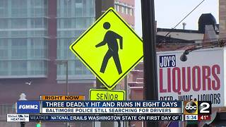 Three deadly hit & runs in Baltimore - Video