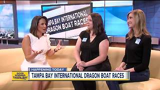 Dragon boat race featured attraction in downtown Tampa waters - Video