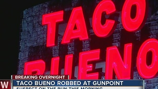 Tulsa Police search for Taco Bueno robbery suspect - Video