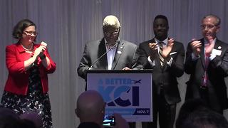 KC leaders celebrate passage of new KCI - Video