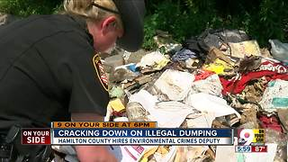 Deputy investigates illegal dumping, pollution - Video