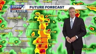 Showers and thunderstorms roll through tonight - Video