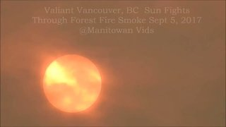Wildfire Smoke Blocks Out Sun in British Columbia - Video