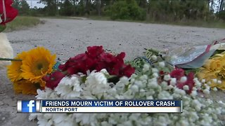 Friends mourn victim of rollover crash