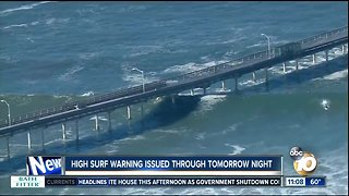 High surf warning through Thursday night