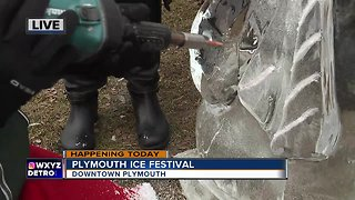 Ice Carving at Plymouth Ice Fest