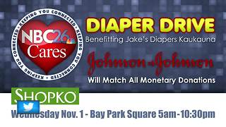 Jake's Diapers, NBC26 host 2nd Annual Diaper Drive - Video