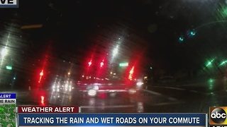 Tracking rain on the roadways Thursday morning - Video