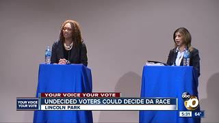 Undecided voters could decide DA race