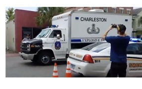 Charleston Explosives Unit Arrives at Gunman Incident - Video