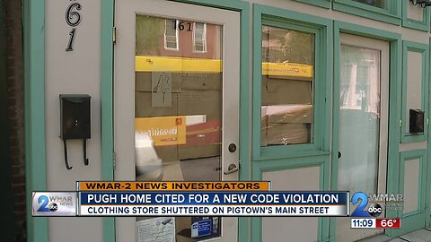 Pugh home cited for another code violation; shop shutters