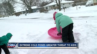 Dangerous cold poses threat to children