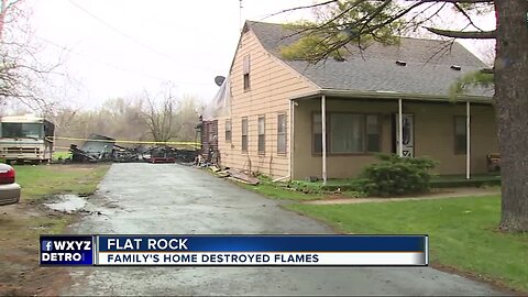 Flat Rock couple trying to rebuild after losing home of 70+ years to fire